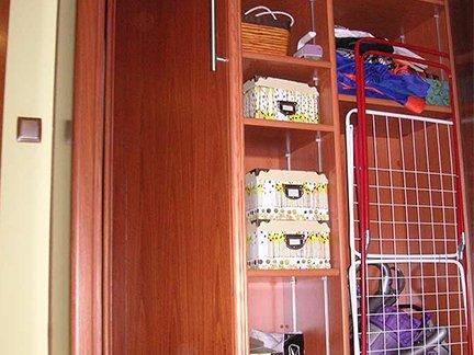 Trabajo realizado. Ejemplo de armario para interior